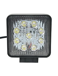 27W Spot 9-Epistar LED Light Bar Offroad Car LED Light Bar Square working lamp