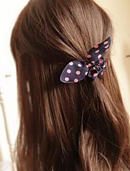 Недорогие -бантом кроличьи уши простые практические высокой упругой ленты для волос (цвет случайный)
