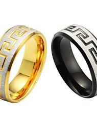 Seul anneau de grain fin et de haute qualité titane acier hommes