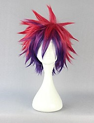 cheap -Cosplay Wigs No Game No Life Sora Red Short / Straight Anime Cosplay Wigs 30 CM Heat Resistant Fiber Male