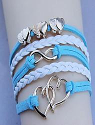 cheap -Unisex's Fashion Golden Double Heart  Woven Bracelet(Assorted Color)