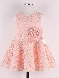 povoljno -Djevojka je Žakard Ljeto Bez rukávů Haljina Obala Pink