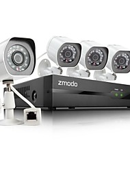 Zmodo® 4CH HD NVR sPoE Security System with 4 720P Night IP Camera