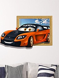 Недорогие -3D автомобилей стены стикеры стены Наклейки