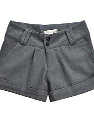billige -Dame Bomuld Jeans Bukser Ensfarvet