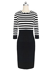 billige -striber splicin gfitted kappe kjole