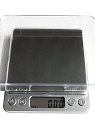 cheap -Digital LCD Electronic Kitchen Weight Food Scale Balance1000g/0.1g, Plastic 12.7X10.6X1.9cm