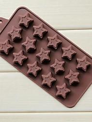 15 отверстий пончики пентаграмма формы торт льда желе формы для шоколада