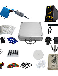 abordables -1 Gun Complete No Ink Tattoo Kit with Blue Plastic Motor Machine