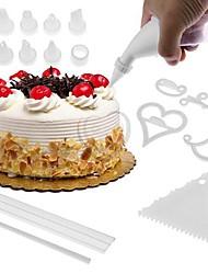 お買い得  -装飾用具 フラワー パイ クッキー ケーキ プラスチック エコ 焦げ付き防止