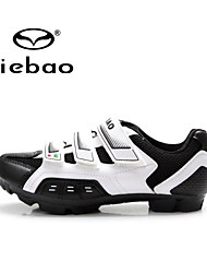 cheap -Tiebao Mountain Bike Shoes Cycling Shoes Unisex Anti-Slip Breathable Mountain Bike Outdoor PVC Leather Breathable Mesh Cycling
