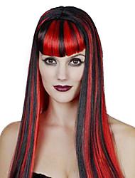 Regina Fiabe Parrucche Cosplay Donna Halloween Carnevale Feste/vacanze Costumi Halloween Bianco Blu Rosso Tinta unita