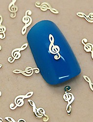 200PCS Musical Note Design Golden Metal Slice Nail Art Decoration
