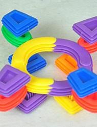 Недорогие -охраны окружающей среды нетоксичные дети замечательные пластиковые собраны строительные блоки