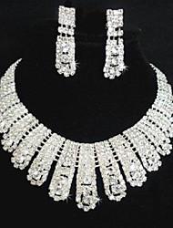 cheap -Women's Rhinestone Wedding Party Rhinestone Alloy Earrings Necklaces