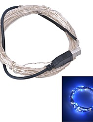 abordables -usb xinyuanyang® 6w 100-0603 SMD luz blanca azul llevó la lámpara de la tira - plata (DC 5V / 1000cm)