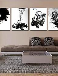 Недорогие -натянутым холстом Печать на холсте, абстрактные чернила в воде Набор из 4