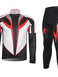XINTOWN Calça com Camisa para Ciclismo Homens Manga Longa Moto braço aquecedores Conjuntos de Roupas Térmico/Quente Secagem Rápida