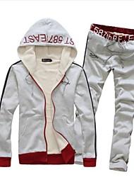 moda maschile casual sportivo tute Fleece Hoodie (etichetta neckline casuale)
