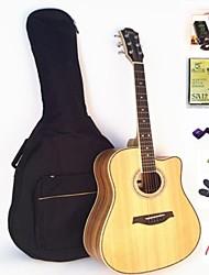 Недорогие -ИРИС народная акустическая гитара 41 дюймов + пакет + тюнер + струны + медиатор капо + Гровер + + ремень