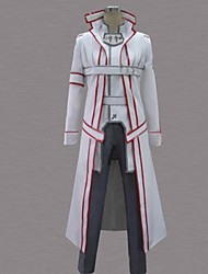 cheap -Inspired by Sword Art Online Kirito Anime Cosplay Costumes Cosplay Suits Patchwork White Long Sleeve Cloak / Coat / Pants / Belt