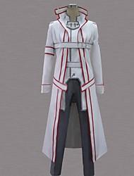 economico -Ispirato da Sword Art Online Kirito Anime Costumi Cosplay Abiti Cosplay Collage Bianco Maniche lungheMantello / Cappotto / Pantaloni /