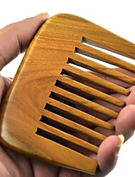 Natual Large Comb Tooth Distance 9X6.7cm Brazil Green Sandalwood Wooden Comb Health Comb