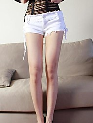 Women's White/Black Denim Pant , Sexy/Casual/Party