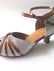 sandálias femininas personalizáveis latino personalizado calcanhar espumante brilho sapatos de dança (mais cores)