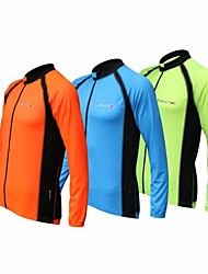 voordelige -REALTOO®  Men's Spring and Summer Breathability Quick Dry  Cycling Jersey  Long Sleeve
