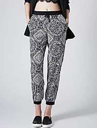 Women's Printing Casual Loose Elastic Waist Long  Pants