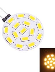 cheap -G4 1.9W 570LM 3200K 15x5730 Warm White LED Light Bulb(DC 10-30V)