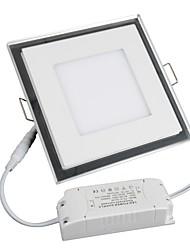 Luminária de Painel 1 leds SMD 3528 Branco Quente Branco Frio 1100lm 3000-6500K AC 85-265V
