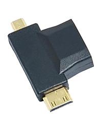 3-in-1 HDMI a Micro HDMI Mini adattatore HDMI Converter