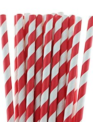 cheap -27 Colors Eco-Friendly Paper Straws Striped Paper Drinking Straws for Halloween Christmas Party Drinking (25 PCS)