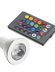 cheap -3W GU10 LED Spotlight 1 leds Decorative RGB 250-300lm 5000K AC 85-265V