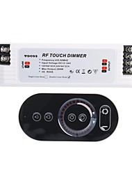 cheap -6A 2-Channel Smart RF Touch Dimmer with Multifunction Remote Controller for LED Lighting (DC 12V-24V)