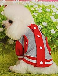 Gatti Cani Felpa Rosso Giallo Blu Nero Rosa Abbigliamento per cani Inverno Primavera/Autunno Monocolore Casual Sportivo