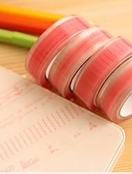 cheap -Pink Lace Pattern Scrapbooking Adhesives Tape 10M 1 PCS