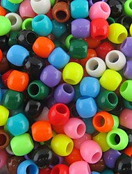Approx 300PCS Mixed 8x9MM Pearlescent Pony Beads For Rainbow Loom Bands Bracelet DIY Accessories
