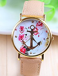 cheap -Women's Wrist Watch PU Band Flower / Fashion White / Beige / One Year / SSUO 377