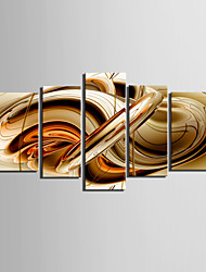 cheap -Canvas Set AbstractFive Panels Horizontal Print Wall Decor For Home Decoration