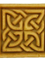 fondant bolo em forma de quadrado de argila do molde de chocolate doce resina de silicone, l7cm * w7cm * h3.3cm