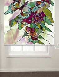 cheap -Abstract Style Butterfly With Flowers Roller Shade