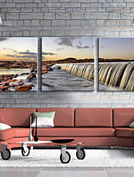 Недорогие -Отпечатки на холсте Наборы холстов Пейзаж 3 панели Горизонтальная С картинкой Декор стены Украшение дома