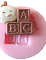 cheap -Baby ABC Baking Fondant Cake Chocolate Candy Mold,L3.7cm*W3.7cm*H1cm