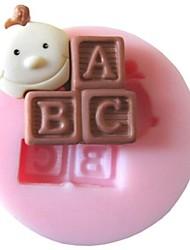 Baby ABC Baking Fondant Cake Chocolate Candy Mold,L3.7cm*W3.7cm*H1cm