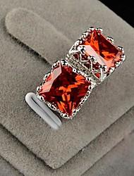 Orecchini a bottone Cristallo Cristallo Acciaio inossidabile Placcato in platino Arancione Viola Giallo Rosso Trasparente Gioielli