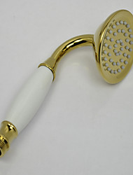 cheap -Contemporary Ti-PVD Finish Brass Handled Shower Head