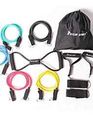 baratos -KYLINSPORT Kit de Elásticos para Treino de Resistência Com Case de Transporte / Correia de Calcanhar / Âncora de porta 12 pcs Treinamento de Resistência, Fisioterapia Para Ioga / Pilates / Exercício